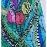 Zentangle TULIPANY rysunek obraz obrazek -