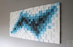"""Obraz drewniany 3D Mozaika drewniana """"TR"""""""