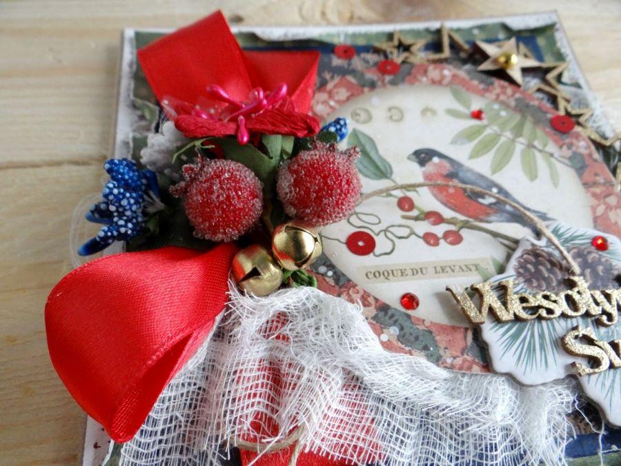 Kartka świąteczna w pudełku VINTAGE #2 - Detal2