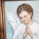 Obrazek- modlący chłopiec - widok