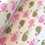 Tkanina bawełna dla dzieci róż