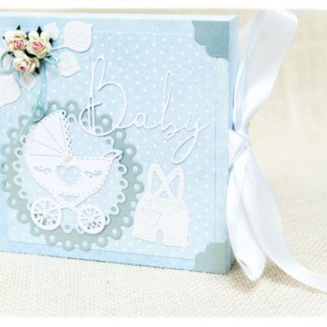 Chrzest Św. Pudełko w formie kartki Baby Boy