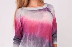 Letnia kolorowa bluzeczka cieniowana,ombre