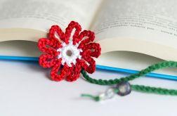 Zakładka do książki. Kwiatek czerwony