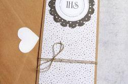 KARTKA KOMUNIJNA :: czarnobiałe kropki