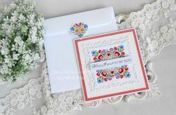 Ślubna kartka w kopercie 12