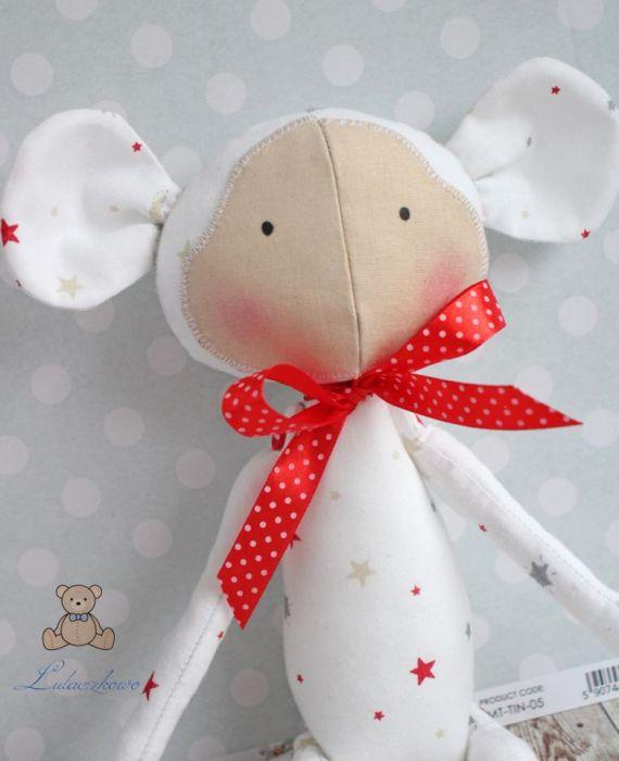 Małpka Tilda biała przytulanka GOTOWA -