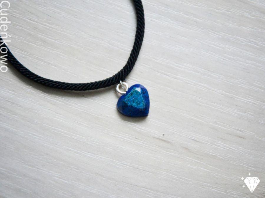 Zatopek bransoletka granatowe serce