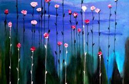 Różany ogród. Obraz.