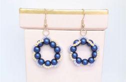 Kolczyki perłowe - granatowe