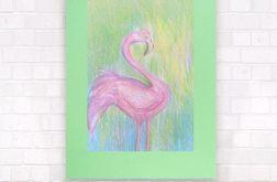 Kolorowy rysunek z flamingiem n5