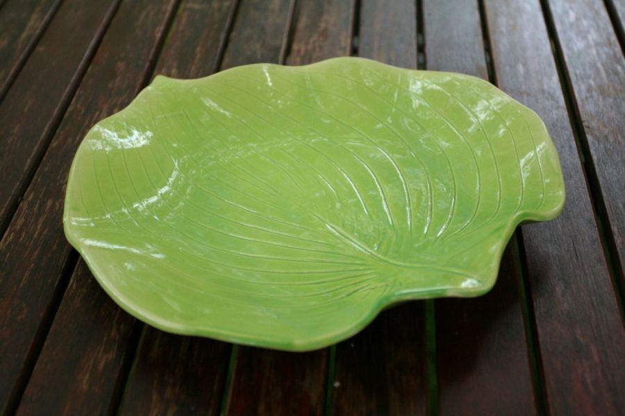 Patera liść hosty zieleń majowa