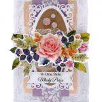 Kartka ślubna z różą ręcznie robiona - KARTKA ŚLUBNA