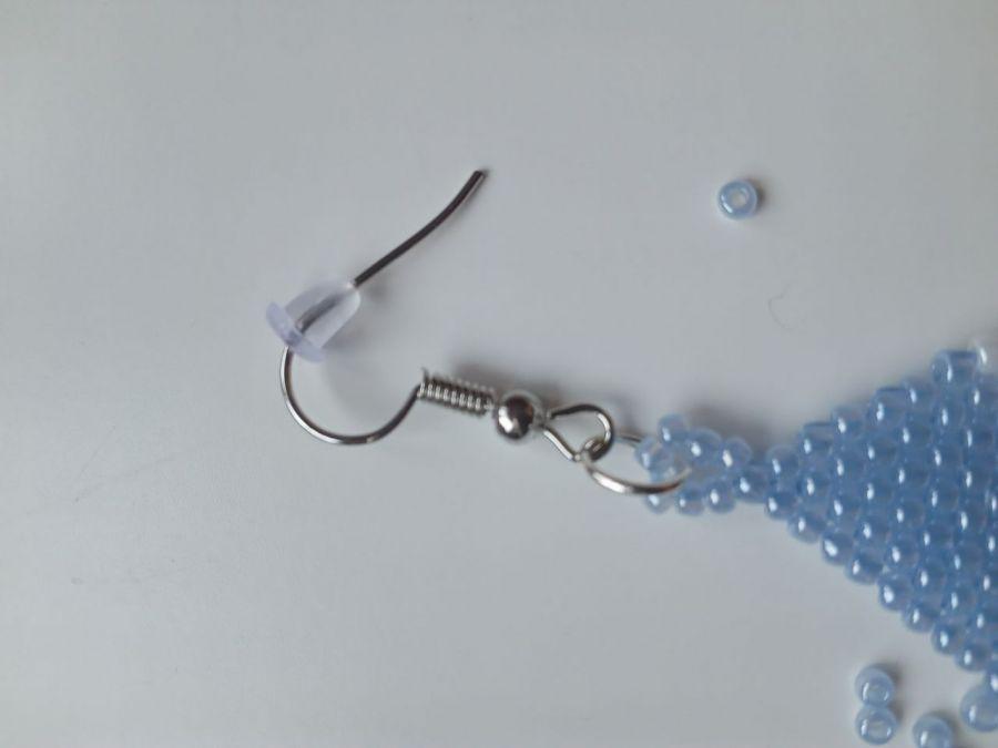 Kolczyki ALA w kolorze błękitno-białym