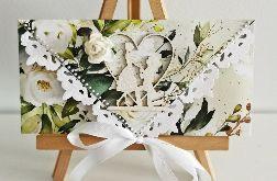 Kartka ślubna kopertowa floral III