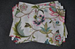 4 podkładki pod talerze - bajeczne kwiaty