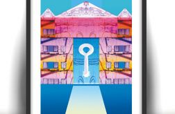 21x30 nowoczesna grafik do pokoju plakat