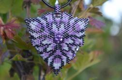 Fioletowy wisior z kryształkami