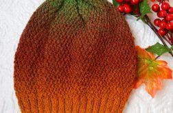 Czapka 100% wełna pomarańczowy, ochra, żółty