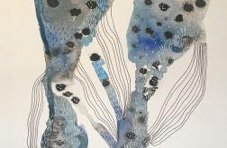 Obraz, akwarela, abstrakcja