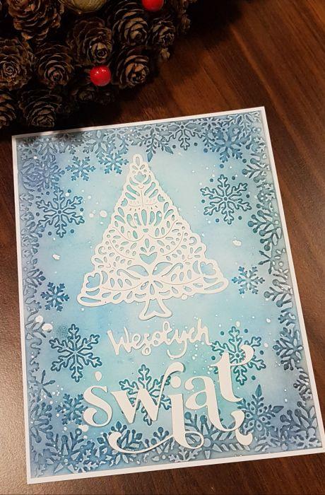 Kartka bożonarodzeniowa KH2012001 - Kartka świąteczna biała