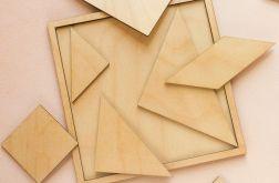 Układanka, puzzle, tangram drewniany