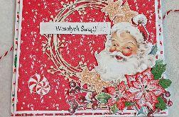 Kartka bożonarodzeniowa Mikołaj