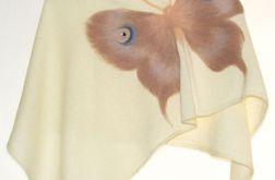 Ponczo dla dziewczynek z motylem 3