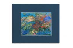 Pod wodą-obrazek ręcznie malowany