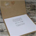 Ślubna kartka z zielonym wieńcem - ślubna kartka z życzeniami