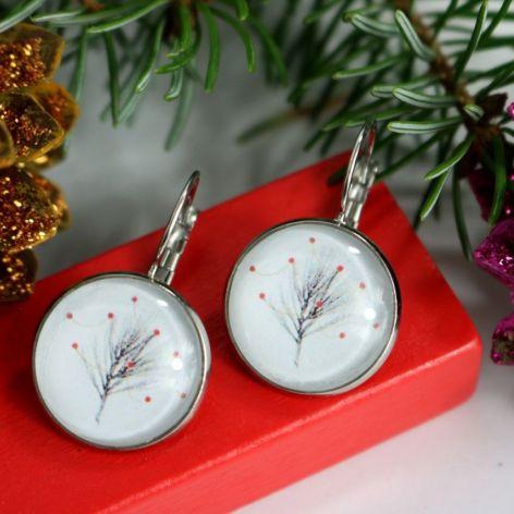 Kolczyki Gałązka świąteczna