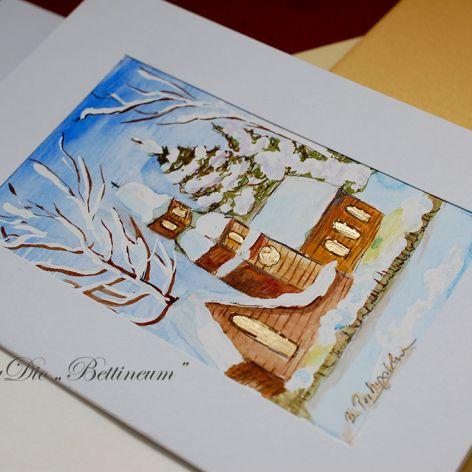 Karnet malowany ręcznie -Akwarela Nr 5-