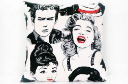 Monroe, Hepburn - poduszka z bawełny Canvas