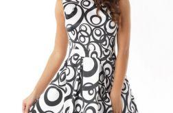 Piękna sukienka z kontrafałdą ED02-2