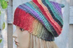 czapka   cieniowana  kolorowa
