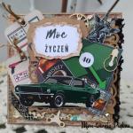 Kartka urodzinowa męska wz 6 - Żyrafa 3