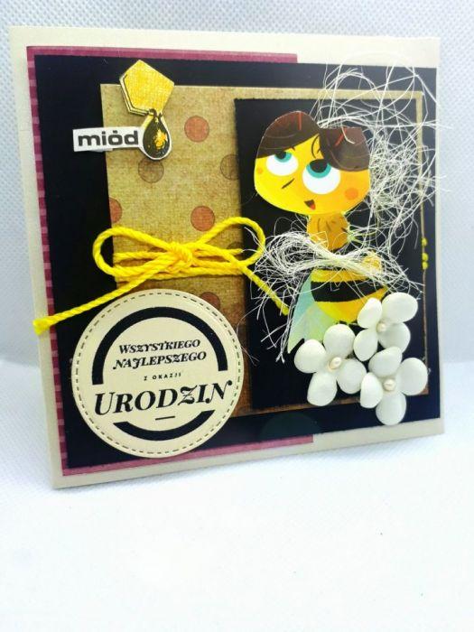 Kartka dla pszczelarza #3 pszczoły miód  - 3