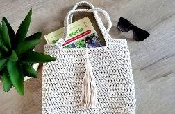 Torba torebka ze sznurka torebka torba na szydełku shopperka