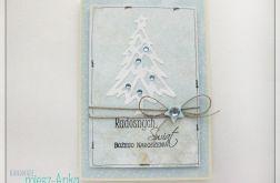 Kartka świąteczna z choinką 2