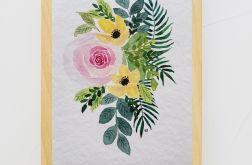 Akwarela, kompozycja kwiatowa 2