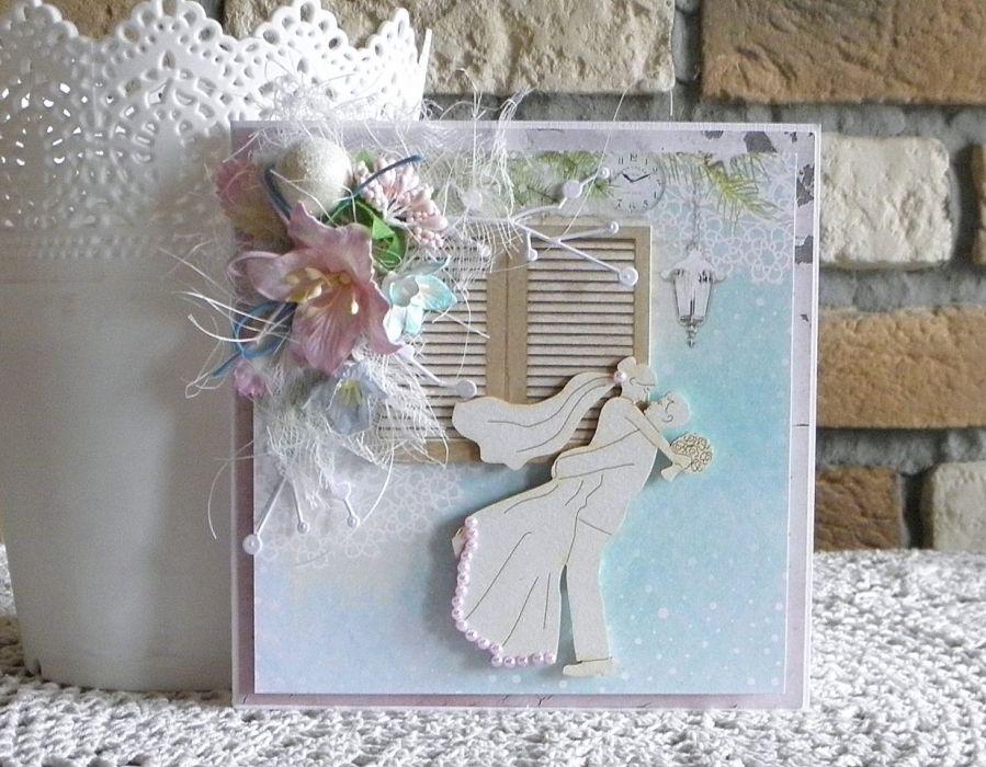 W dniu ślubu 03 - kartka w pudełku
