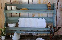 Drewniana półka na talerze, oryginalny kolor