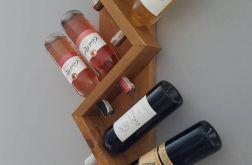Półka z drewna na 6 butelek wina