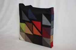 torba worek Black Bag Trójkąty - na Fundację