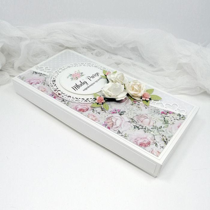 Romantyczna kartka na ślub w pudełku DL - Romantyczna Kartka na Ślub w pudełku DL 3