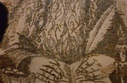 obrazek wypalany w drewnie