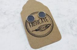 Kolczyki wkrętki - Szare szkło - Fabricate