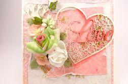 Ślubna - morela i LOVE