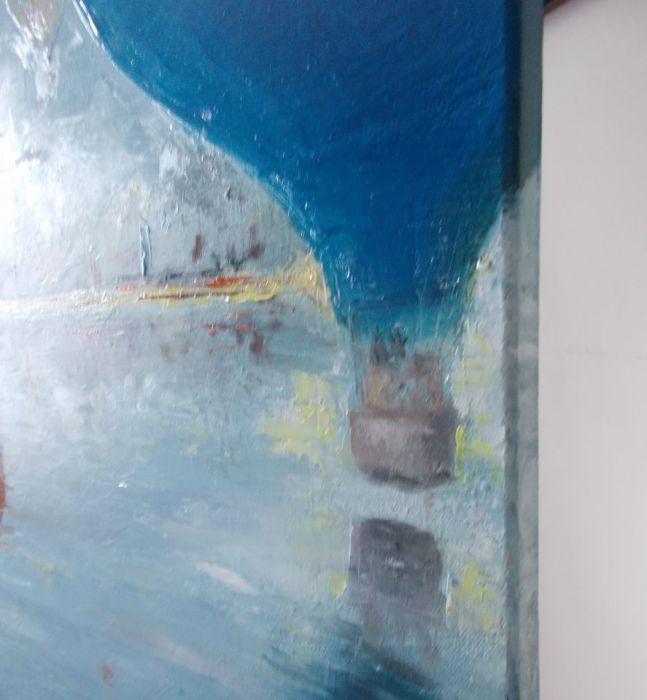 Wakacje - olej na płótnie - Obraz olejny pejzaż