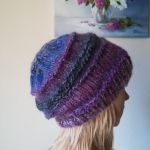 Fiolety z jedwabiem czapka